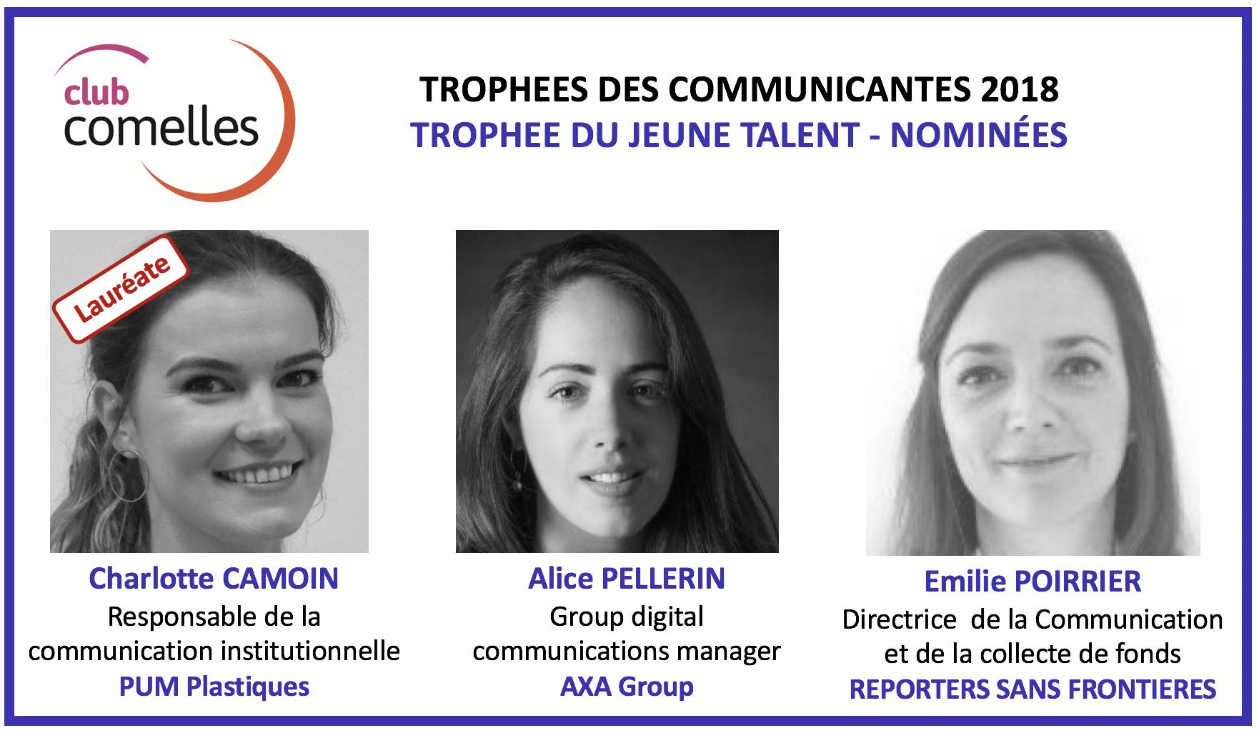 Trophées Comelles des Communicantes 2018